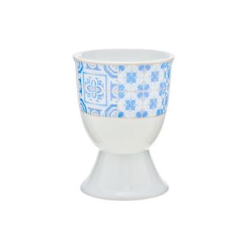 Cosy & Trendy Tile Blue Egg Cup D5xh6cm Set 6