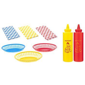 Cosy & Trendy Grill Hot Dog And Hamburger Kit 14pcs