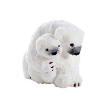 Cosy @ Home Cuddling Polar Bears White 28x23h22cm