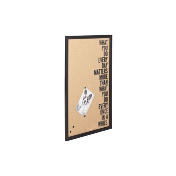 Cosy @ Home Memo Board Cork Wood Black 40x1.5x60cm