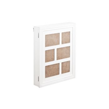 Cosy @ Home Photoframe Jewelry Box White Wood 36x44x