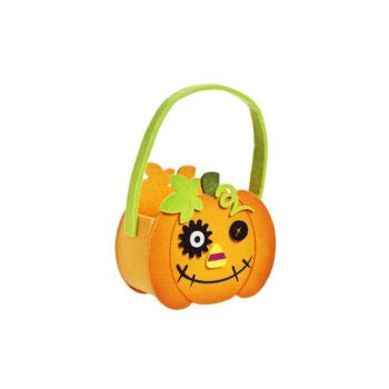 Cosy @ Home Basket Pumpkin Felt 16x8x14cm