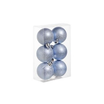 Cosy @ Home Ball Plastic Wrinkle Set6 Ice Blue D6cm