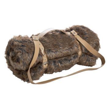 Cosy @ Home Blanket Brown Fur 130x160cm W Belt
