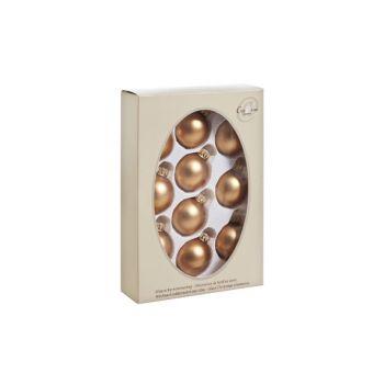 Cosy @ Home Ball Glass Set10 Siena Gold Mat D4.5cm