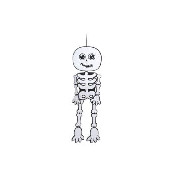 Cosy @ Home Hanging Skeleton White Black 30x100cm