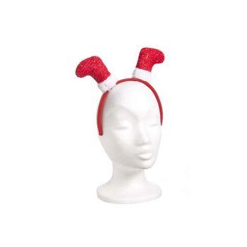 Cosy @ Home Headband With Xmas Stockings Red