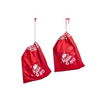 Cosy @ Home Xmas Bag Red Felt 50x1xh60cm 2 Types