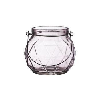 Cosy @ Home Lantern Geometric Glass Mauve 12x12x10.5