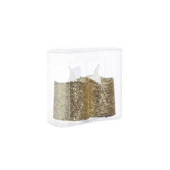 Cosy @ Home Tealight Led Glitter Set2 Gold D4xh5cm