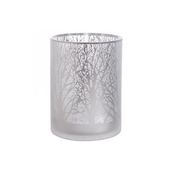 Cosy @ Home T-lighth Branches Frosted Silver 18x24cm