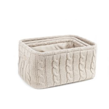 Cosy & Trendy S3 Storage Basket Rect. Brown 36x26xh20