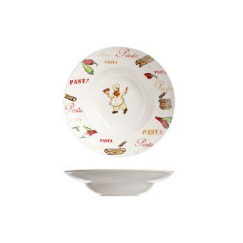 Cosy & Trendy Pasta Plate D19-30xh6cm Deco Pasta