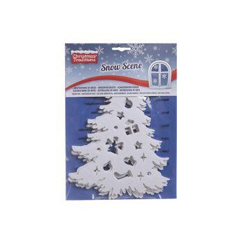 Goodmark Indow Sticker Snow Tree Set5 Felt