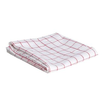 Cosy & Trendy For Professionals Kitchen Towel Coarse Check Red-white
