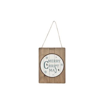 Cosy @ Home Sign Merry Christmas Wood 15x1x20cm