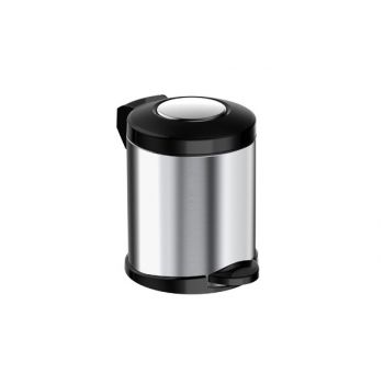 Meliconi New Opera Brushed Steel 5l Pedal Bin