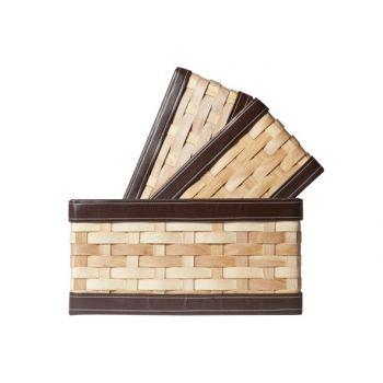 Cosy @ Home Basket Rectangular Woodchip S3 34x31xh20