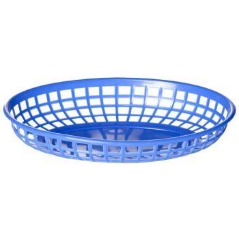 Cosy & Trendy Hamburger Baskets Blue Set6 23x14xh4cm