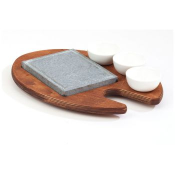 Bisetti Cooking Stone 16x20 Re With 3 Bowls
