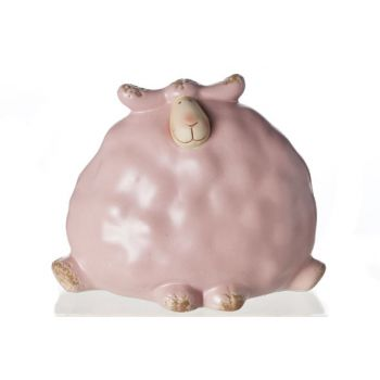 Cosy @ Home Dolly Sheep Pink Ceramic 11x7x9cm