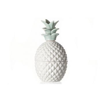 Cosy @ Home Pinneapple Box White-green Porcelain
