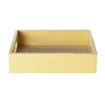 Cosy @ Home Tray Yellow Frame Wood 19x19x4.5cm