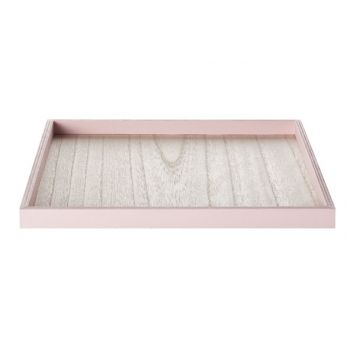 Cosy @ Home Tray Pink Frame Wood 25x25x1,8cm