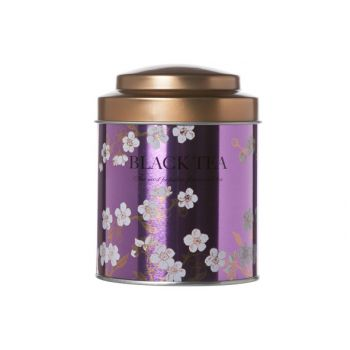 Cosy & Trendy Teabox Fuchsia Tin D8.7xh11.5cm