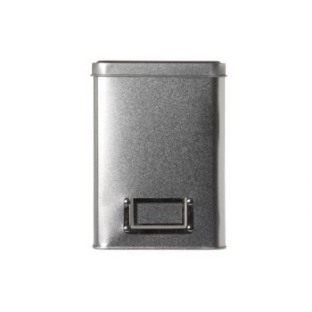 Cosy & Trendy Silver Teabox Tin  10.8x10.8xh15cm