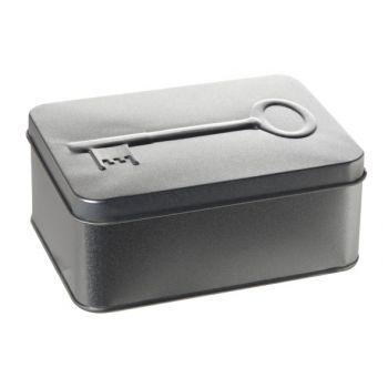 Cosy & Trendy Silver Key Box 3d Tin 14.5x10.5xh5.8cm