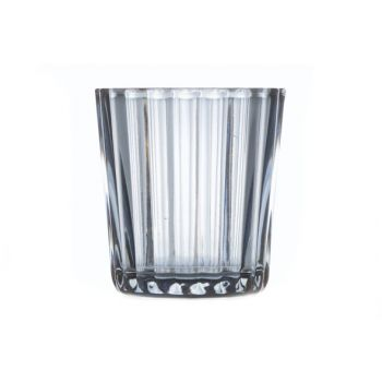 Cosy @ Home T-lighth Elize Glass L.blue 6x6x6cm