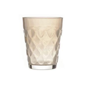 Cosy @ Home T-lightholder Misty Glass Beige 7x7x9cm