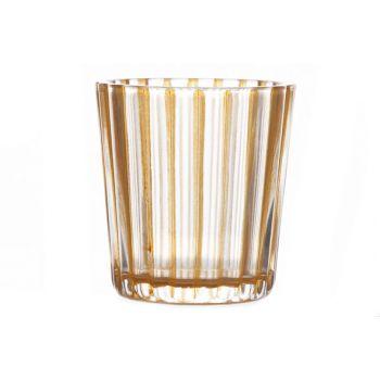 Cosy @ Home T-lightholder Elize Glass Orange 6x6x6cm