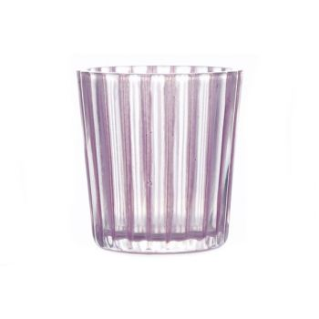 Cosy @ Home T-lightholder Elize Glass Pink 6x6x6cm