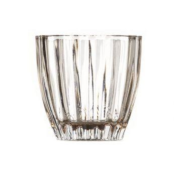 Cosy @ Home T-lighth. Lisa Glass Fume 9x9x8cm