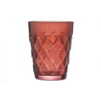 Cosy @ Home T-lightholder Misty Glass Burg. 7x7x9cm