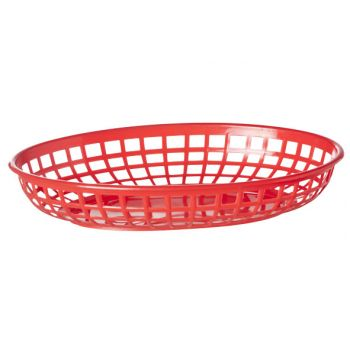 Cosy & Trendy Hamburger Baskets Red Set6 23x14xh4cm