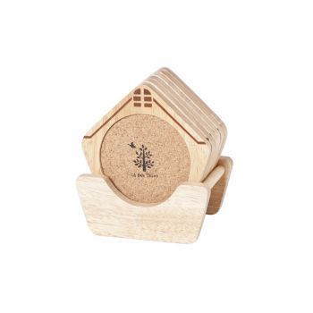 Cosy & Trendy Coasters Model House Set6 Print - Holder
