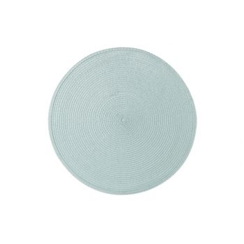Cosy & Trendy Placemat Round Cyan D36cm