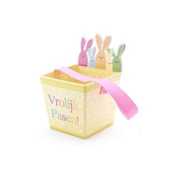 Cosy @ Home Easter Bag Vrolijk Pasen 10x10x15cm 3 Types