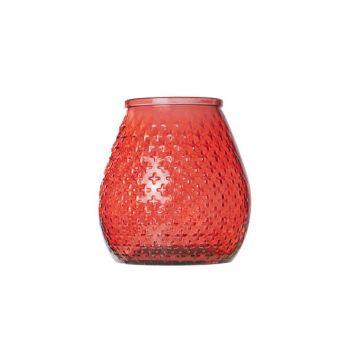Cosy @ Home Hurricane Vase Glass 270ml D18xh19cm Red