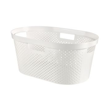 Curver Infinity Wash Basket Dots 39l White