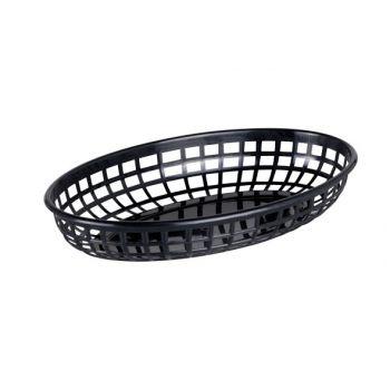 Cosy & Trendy Hamburger Baskets Black Set6 23x14xh4cm
