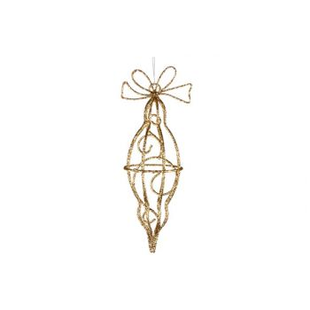 Cosy @ Home Spinner With Bow Hang Glit Gold Metal