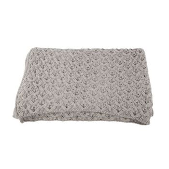 Cosy @ Home Plaid Knittwork Grey Textile 127x152cm