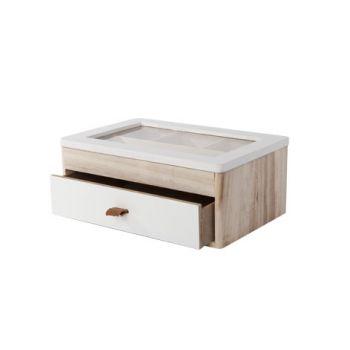 Cosy @ Home Juwelbox White Wood 24x16xh10cm