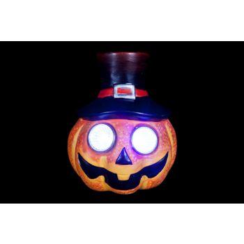 Cosy @ Home Pumpkin Head Led Orange Resine 11x8xh12c