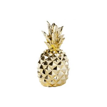 Cosy @ Home Pineapple Gold Resine 10x10x20cm