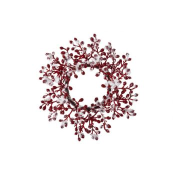 Cosy @ Home Mini Wreath Red Berries W.snow D9cm